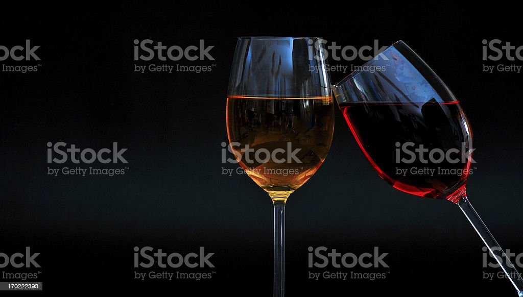 wineglasses red diagonally right royalty-free stock photo