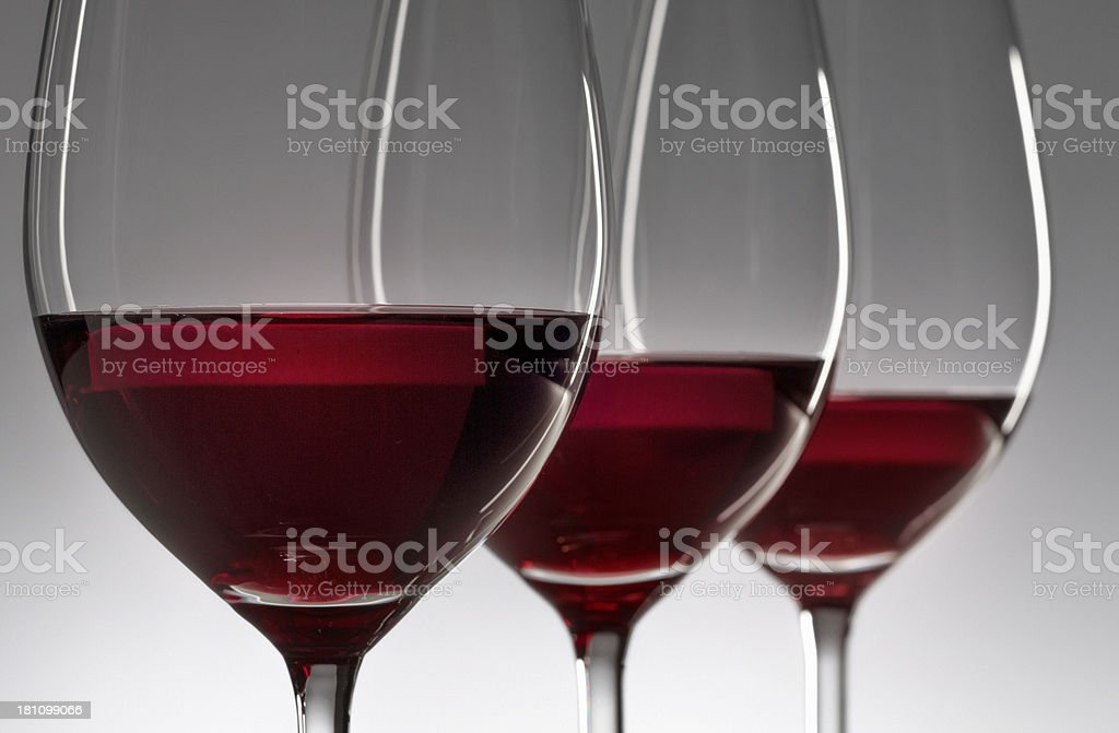 wineglasses with red wine royalty-free stock photo