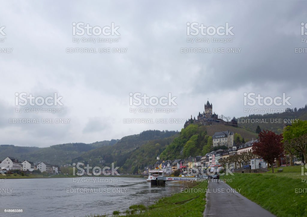 Winemaking town Cochem in Mosel valley, Germany stock photo