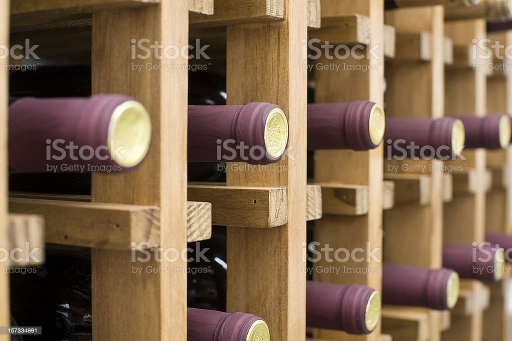 Winerack royalty-free stock photo