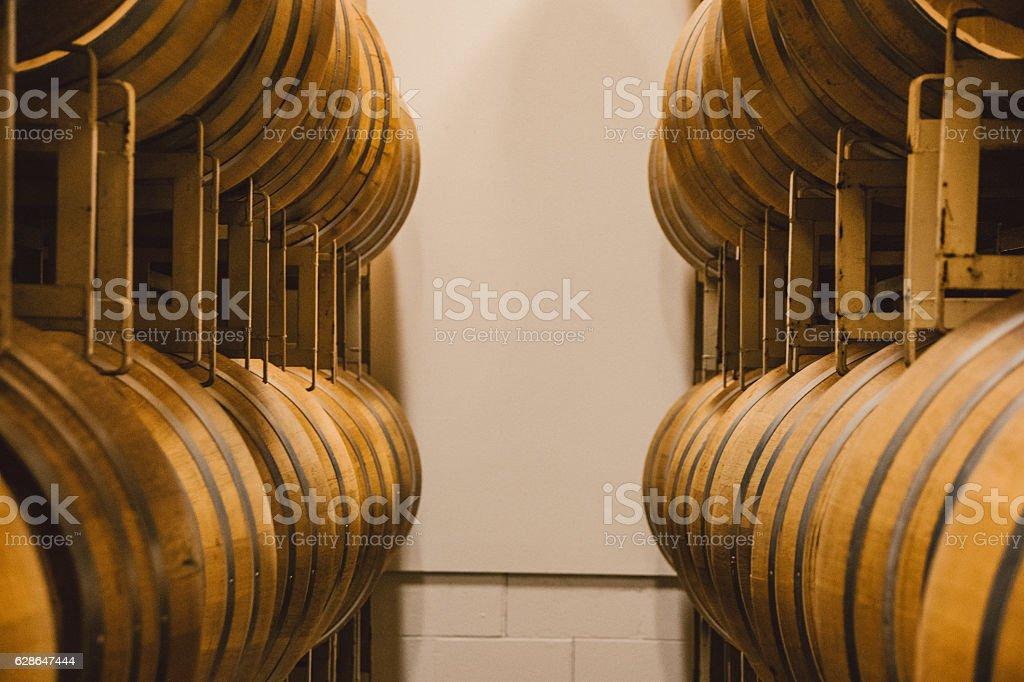 Winery Barrels stock photo