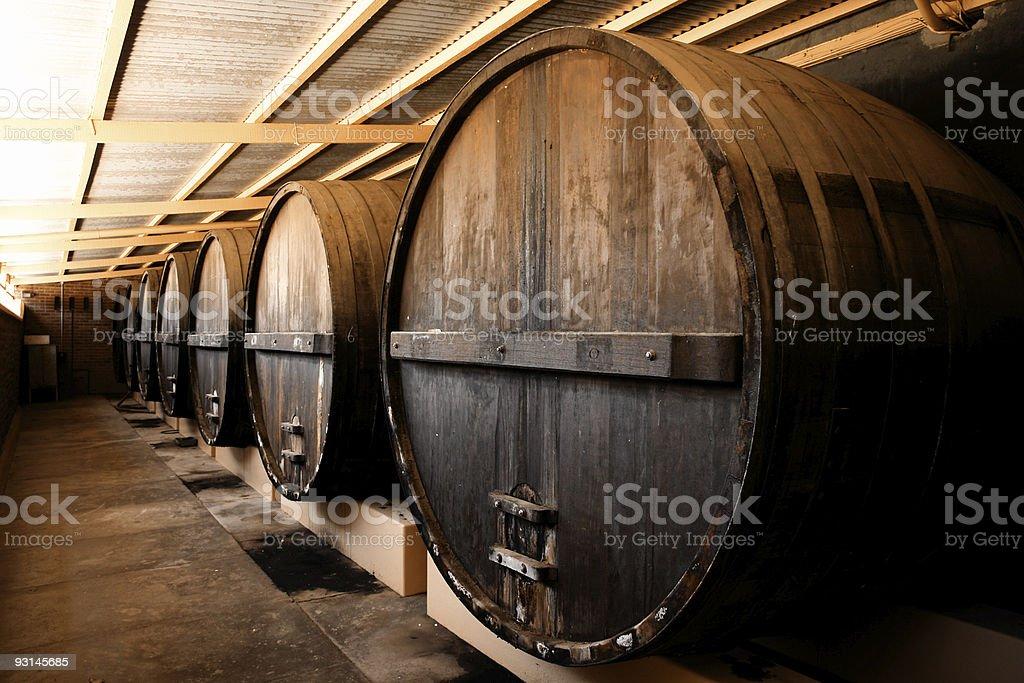 Winery Barrels royalty-free stock photo
