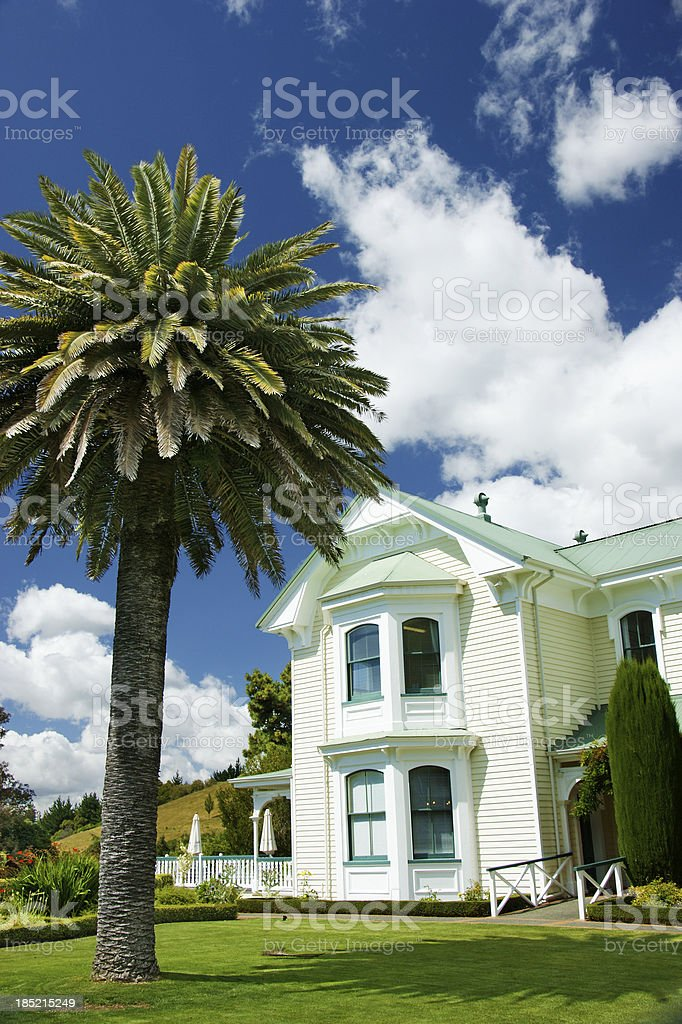 Winery Grounds in Napier New Zealand stock photo