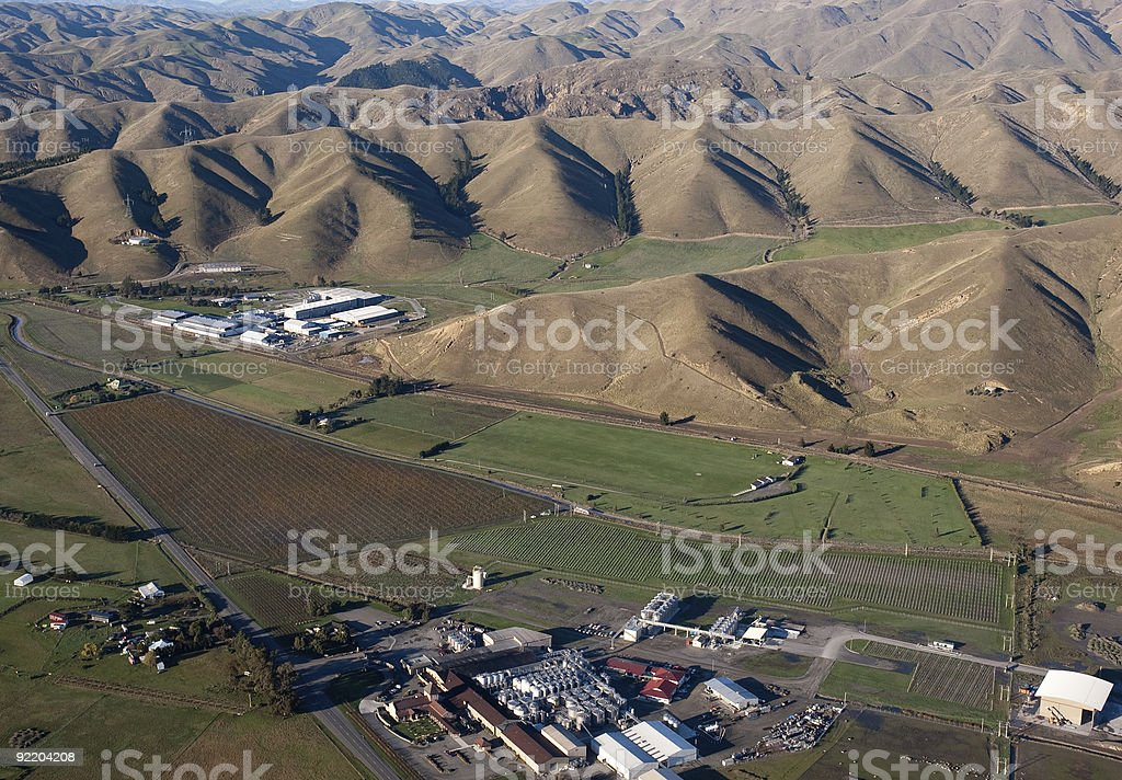 Winery in Marlborough, New Zealand royalty-free stock photo