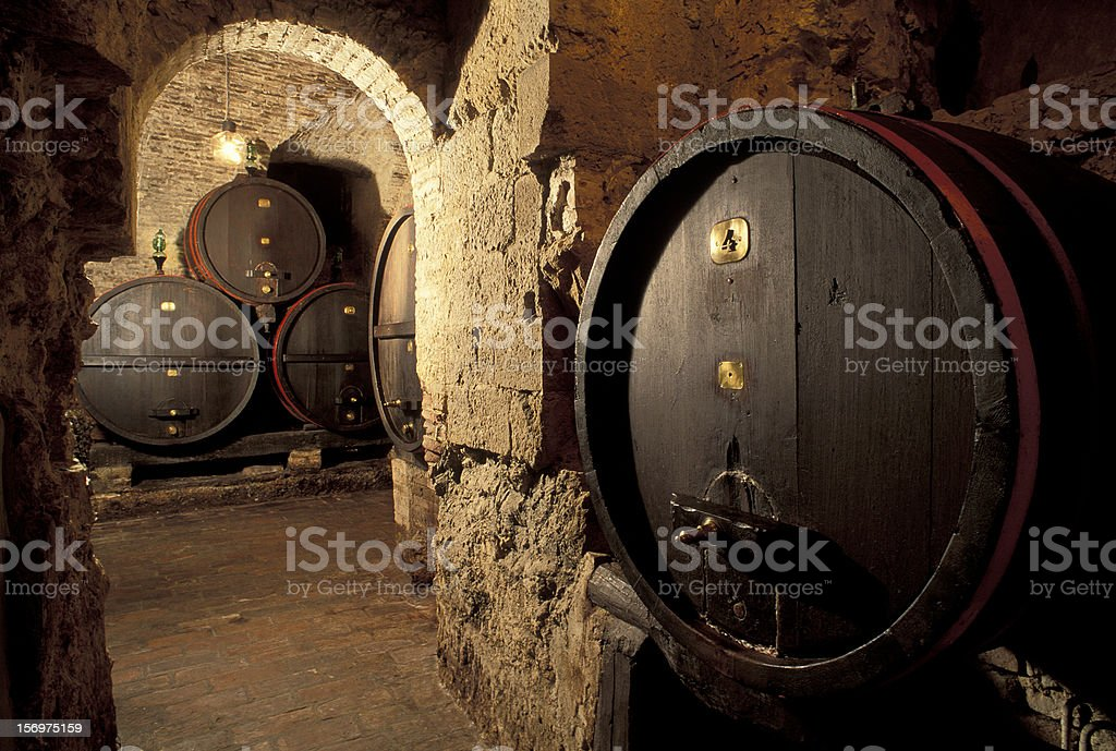 Cantina in Montepulciano stock photo