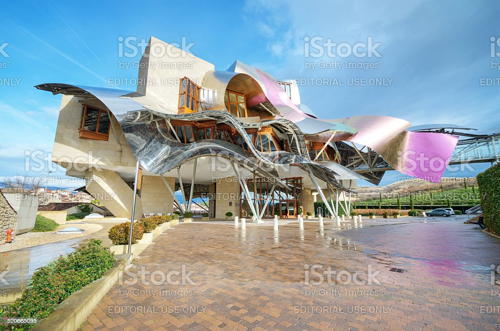 Winery of Marques de Riscal stock photo