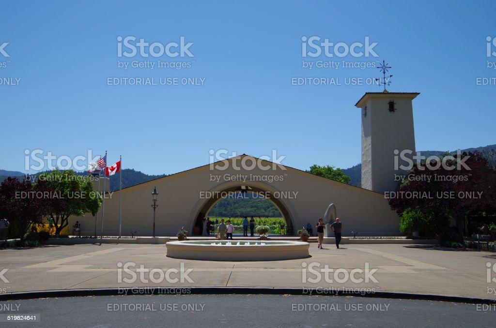 Bodega del Valle de Napa foto de stock libre de derechos