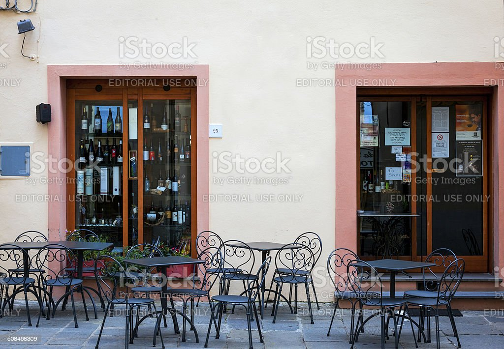 Winery shop in Tuscany. Color image stock photo