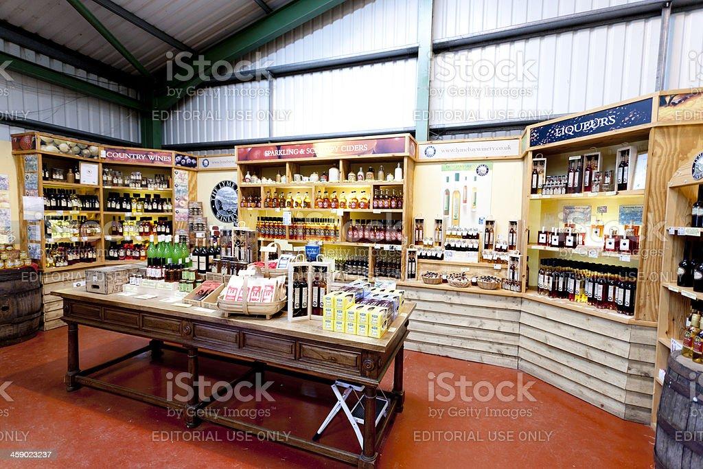 Winery store stock photo
