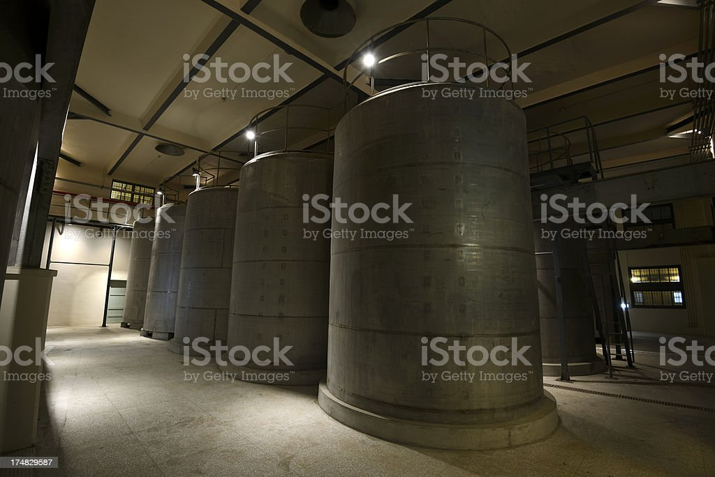 Winery Tanks at Brewery royalty-free stock photo