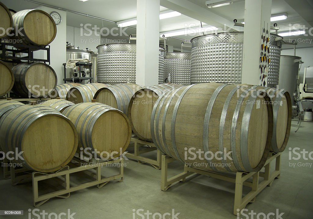 Winery-Barrels and Vats-D2x-44366 royalty-free stock photo