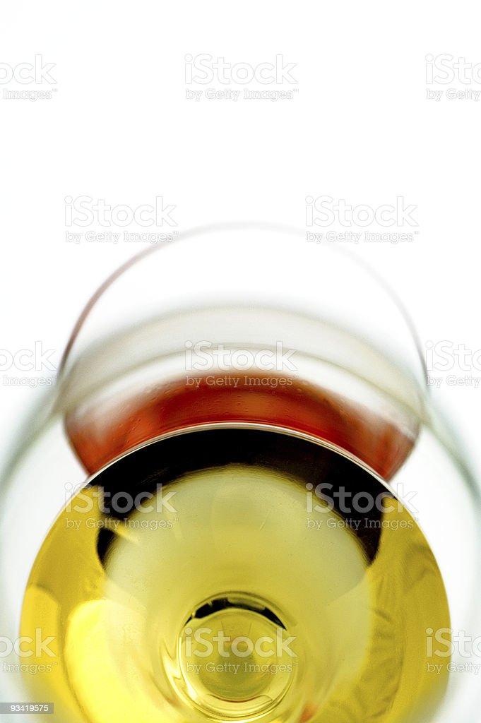 Vin et verres photo libre de droits