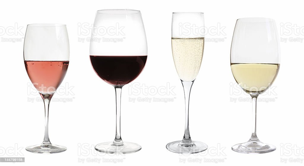 wines collection stock photo