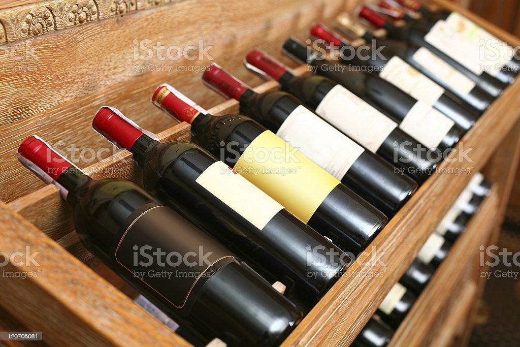 Wineshelf. stock photo