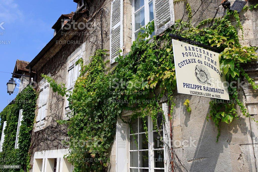 wineshop of Philippe Raimbault in Sancerre stock photo