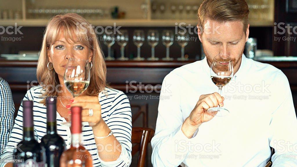 Winetasting. stock photo