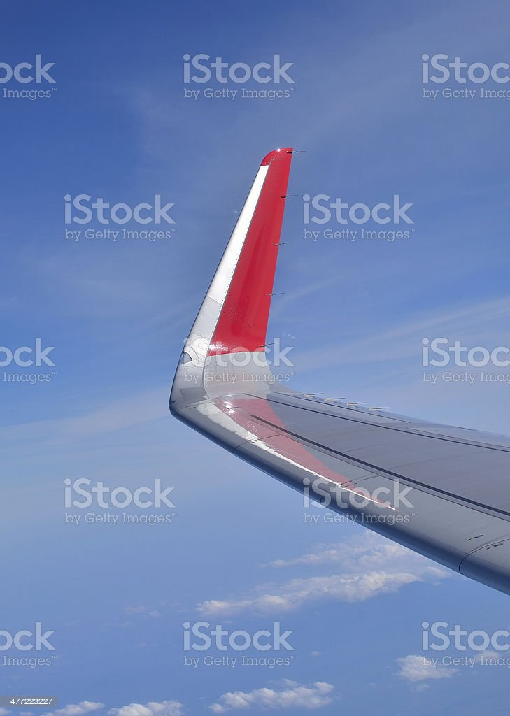 Wing aircraf royalty-free stock photo