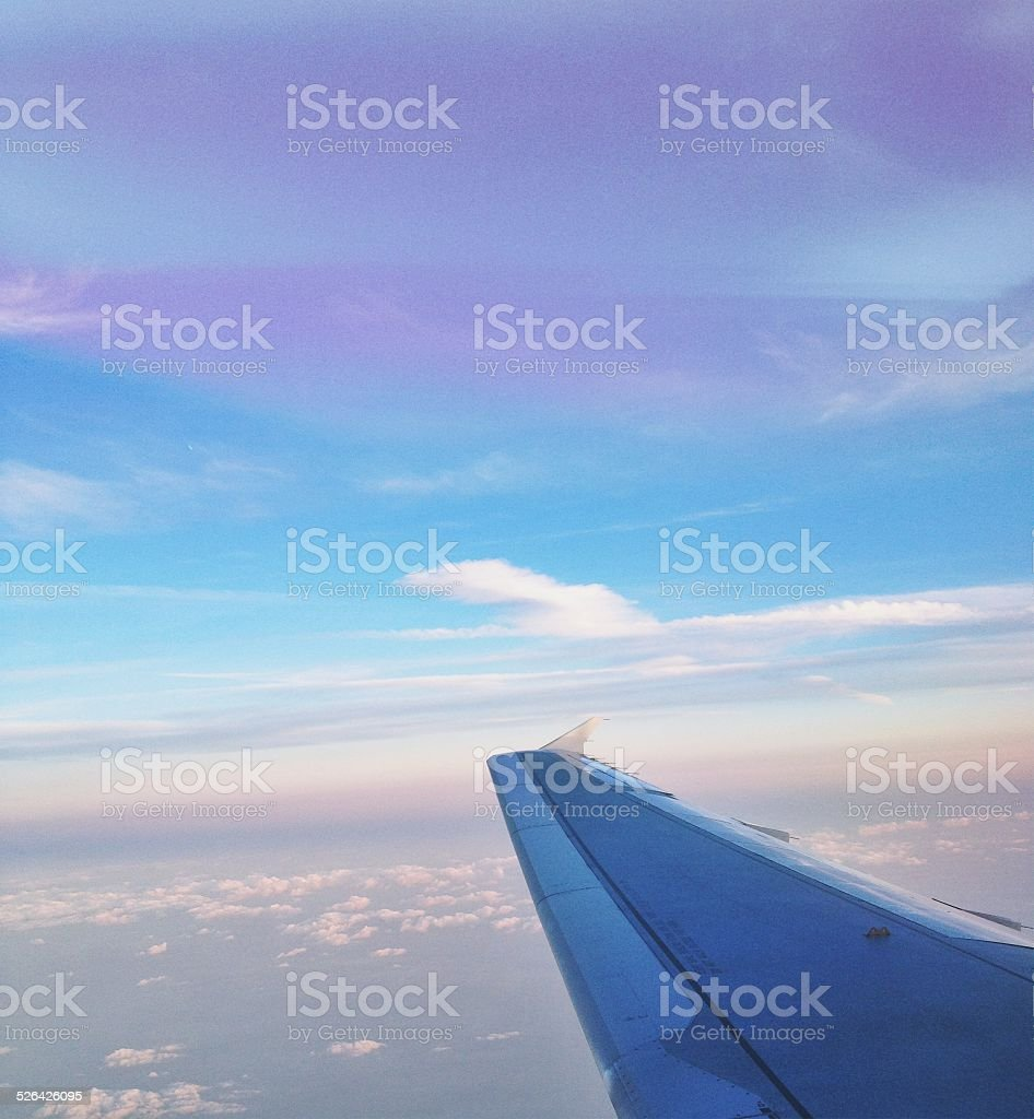 Flügel und sky Lizenzfreies stock-foto
