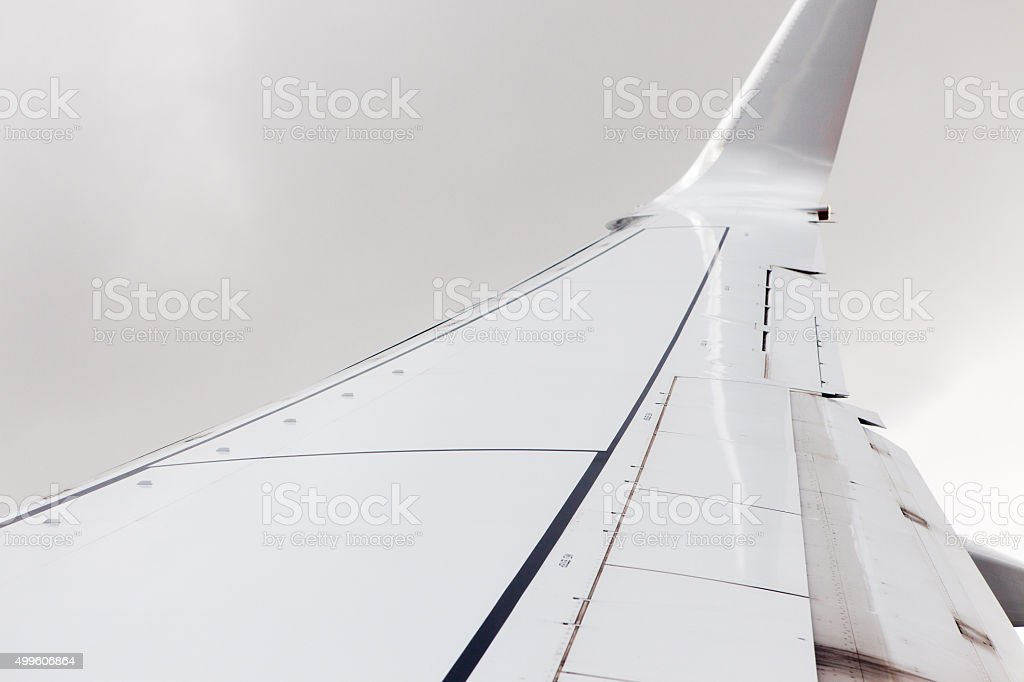Wing of the Plane stock photo
