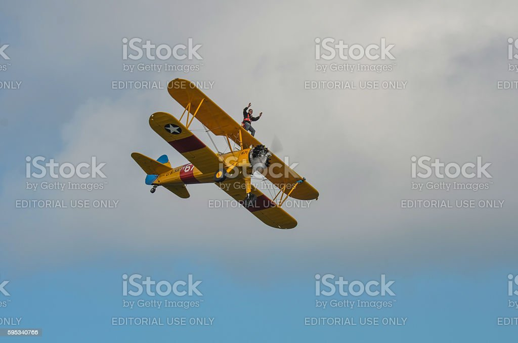 Wing walker stock photo