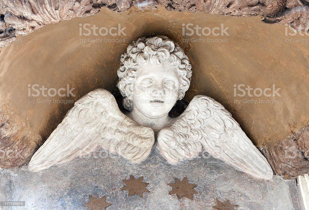 Winged Cherub Statue Lizenzfreies stock-foto