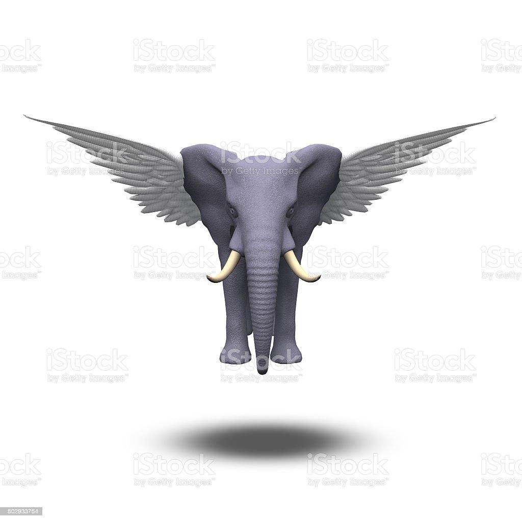 Winged Elephant stock photo