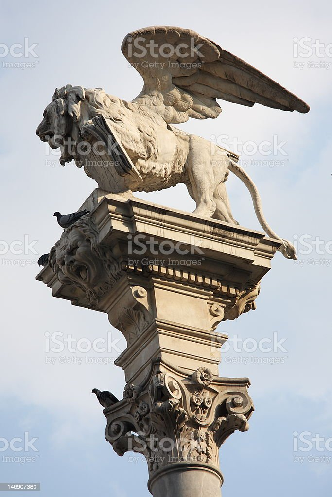 winged lion of St Marco stock photo