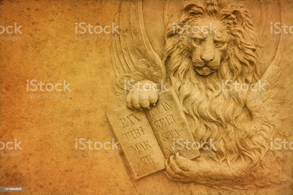 Winged Lion of Venice royalty-free stock photo