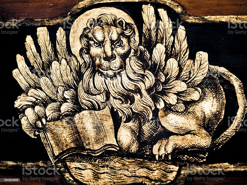 Winged Lion of Venice stock photo