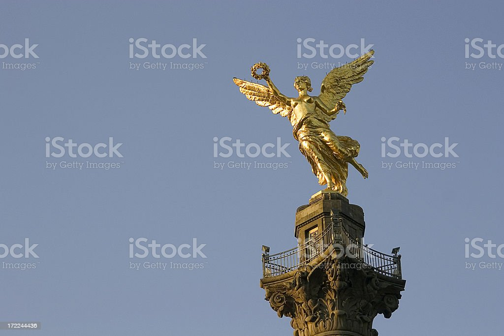 winged victory at sunrise royalty-free stock photo