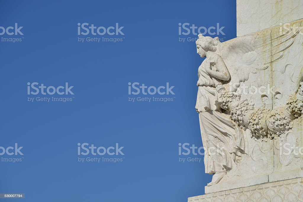 Winged Victory (with copy space) stock photo