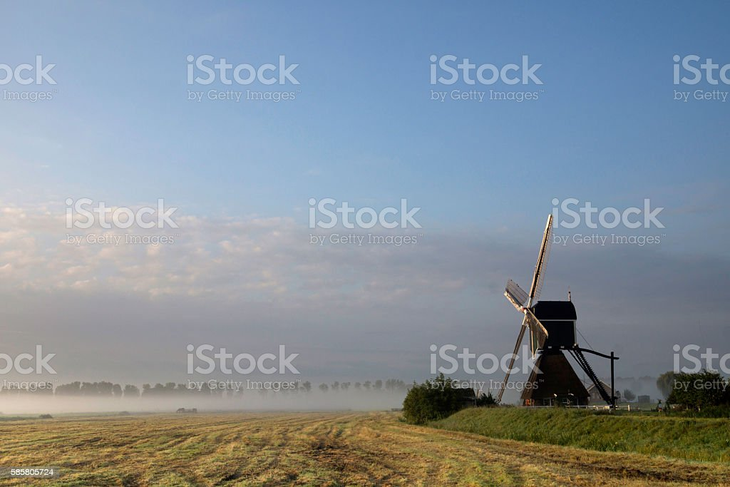 Wingerdse mill near Bleskensgraaf stock photo