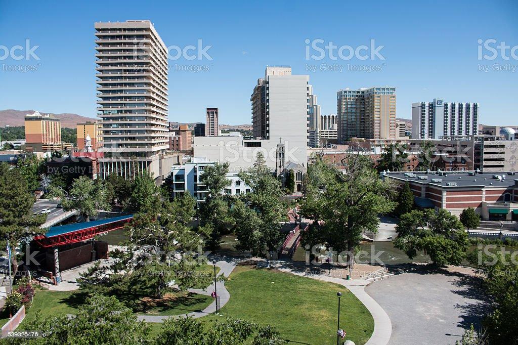 Wingfield Park, Reno, NV stock photo
