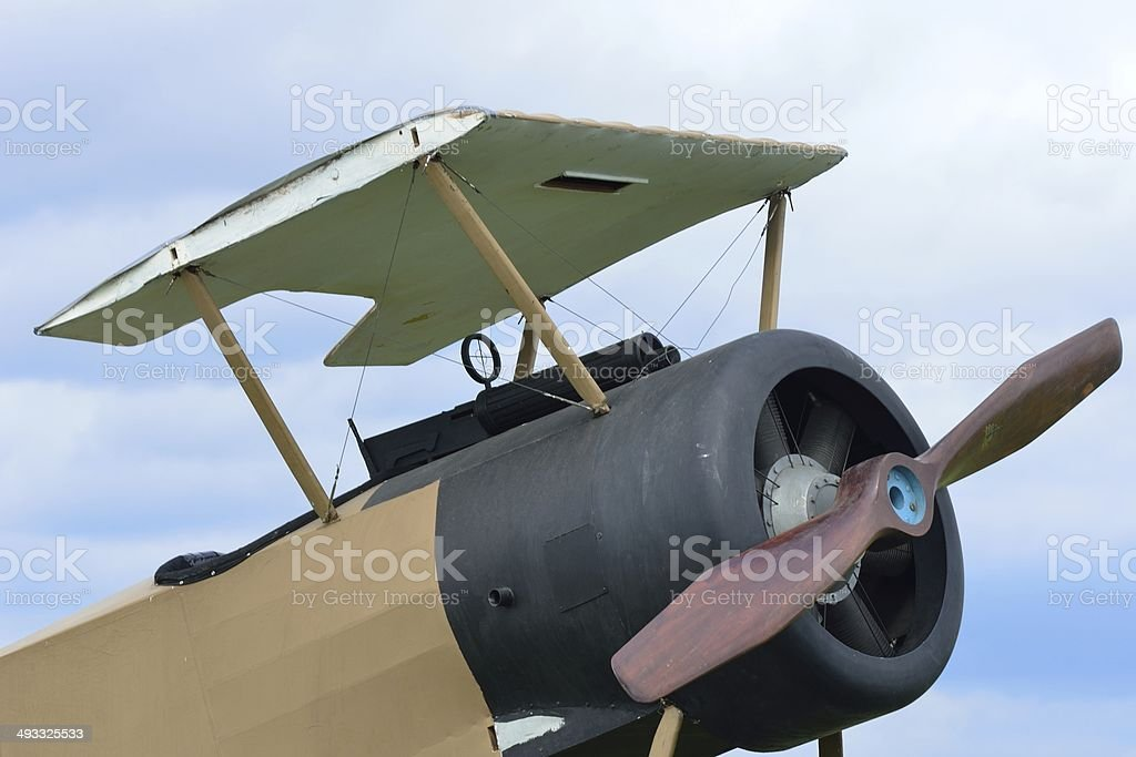Wingless world war one plane royalty-free stock photo