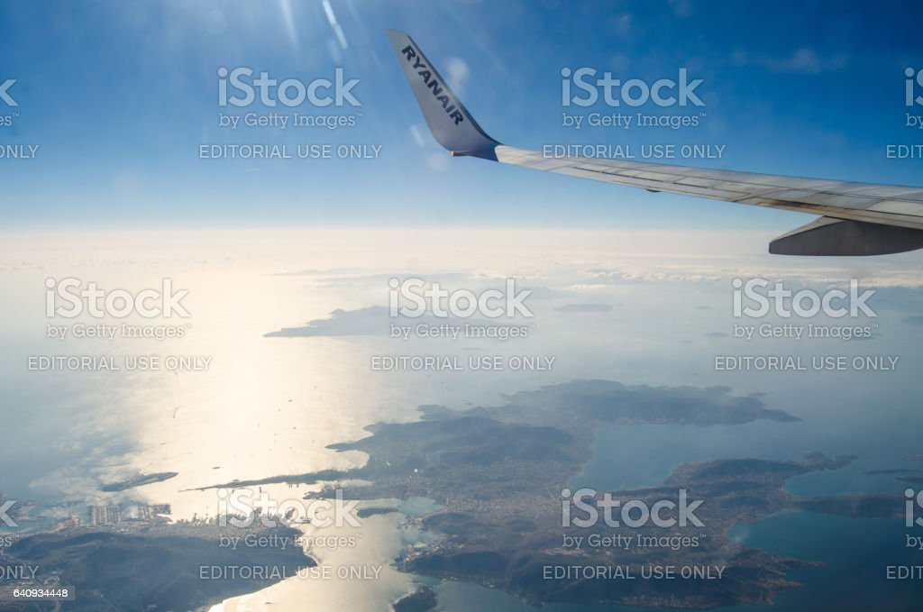 Winglet and landscape stock photo