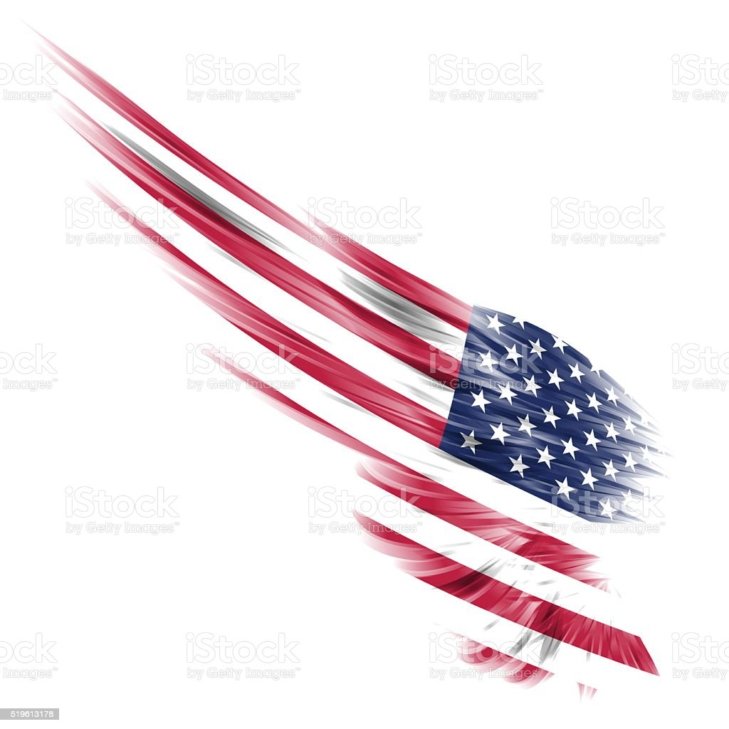 Wings flag - American flag stock photo