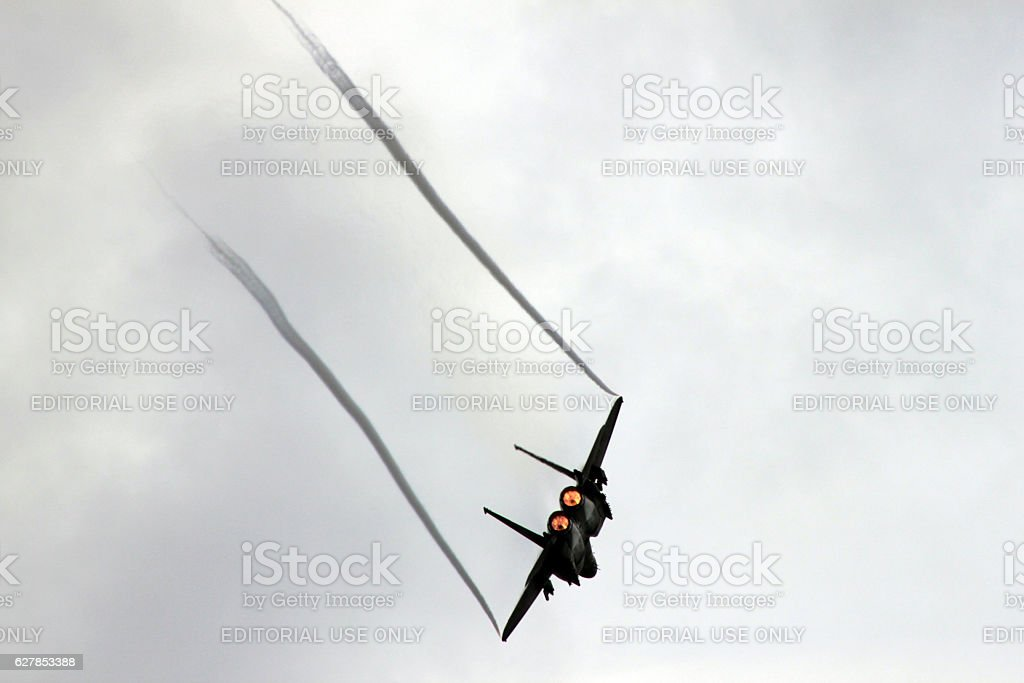 F-15 Wingtip Vortices stock photo