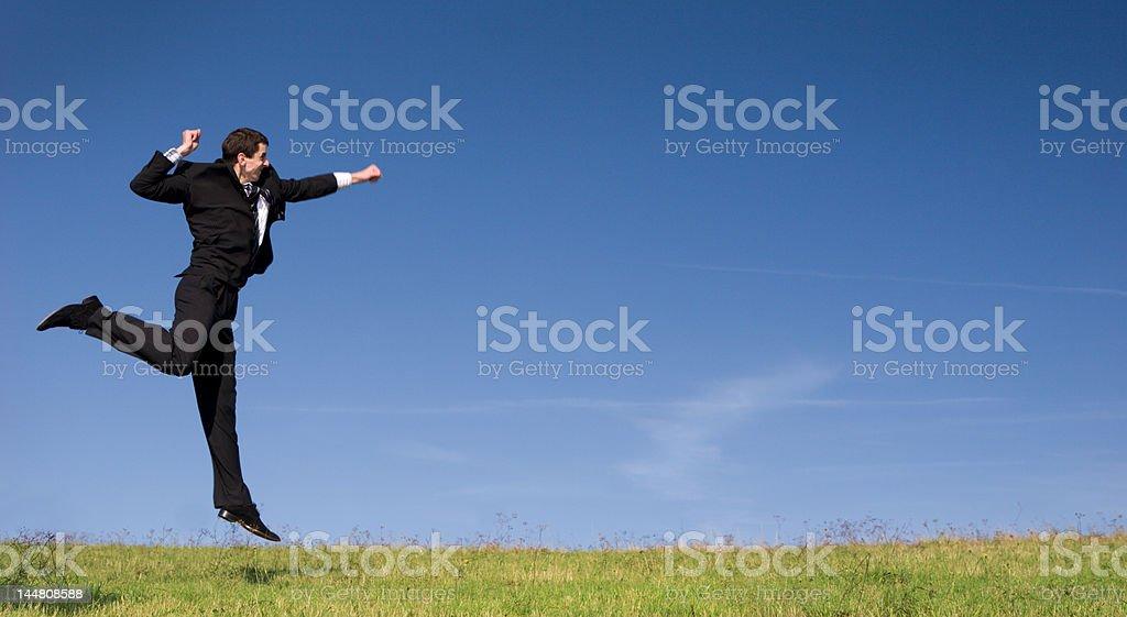 Wining man royalty-free stock photo