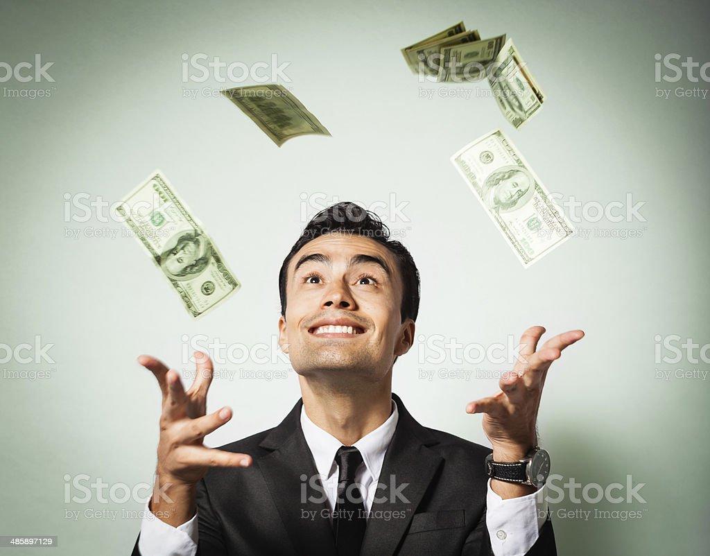 Wining the lottery. stock photo