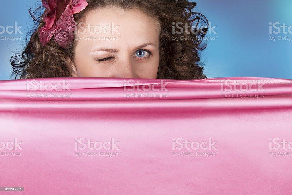 wink royalty-free stock photo