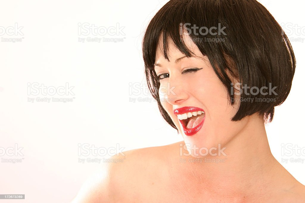 Wink, wink. royalty-free stock photo