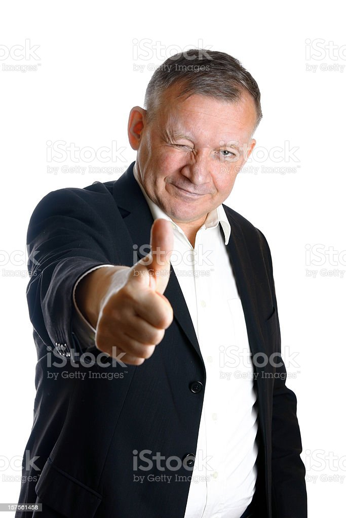 Winking man royalty-free stock photo