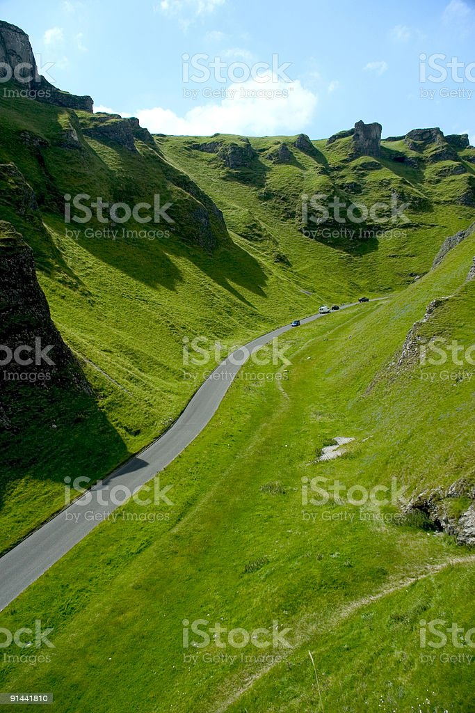 Winnats Pass royalty-free stock photo