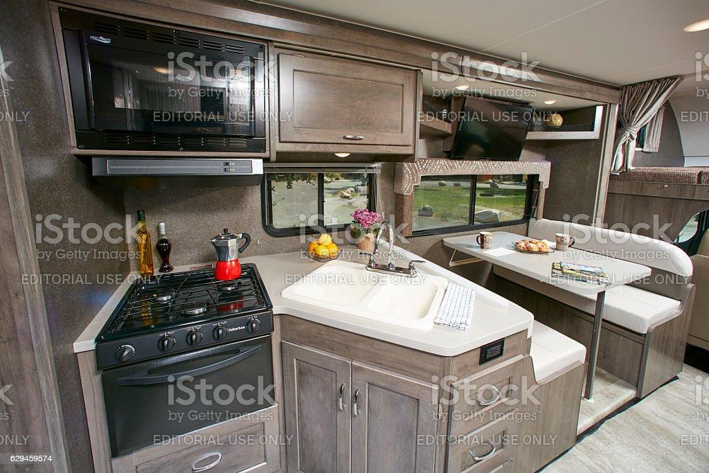 Winnebago Mini Winnie 2017 model kitchen stock photo