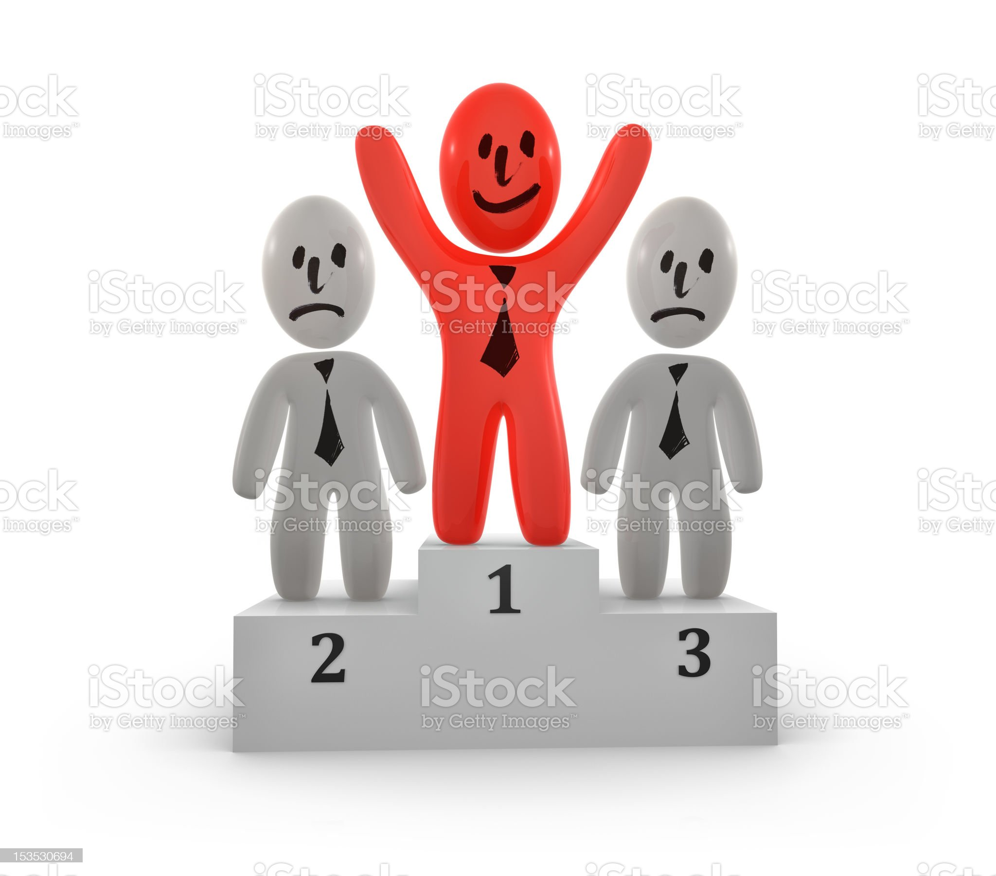 Winner and losers royalty-free stock photo