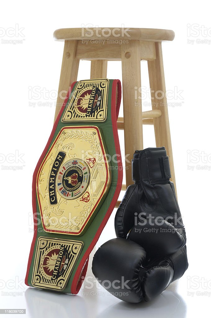 Winner and still champion stock photo