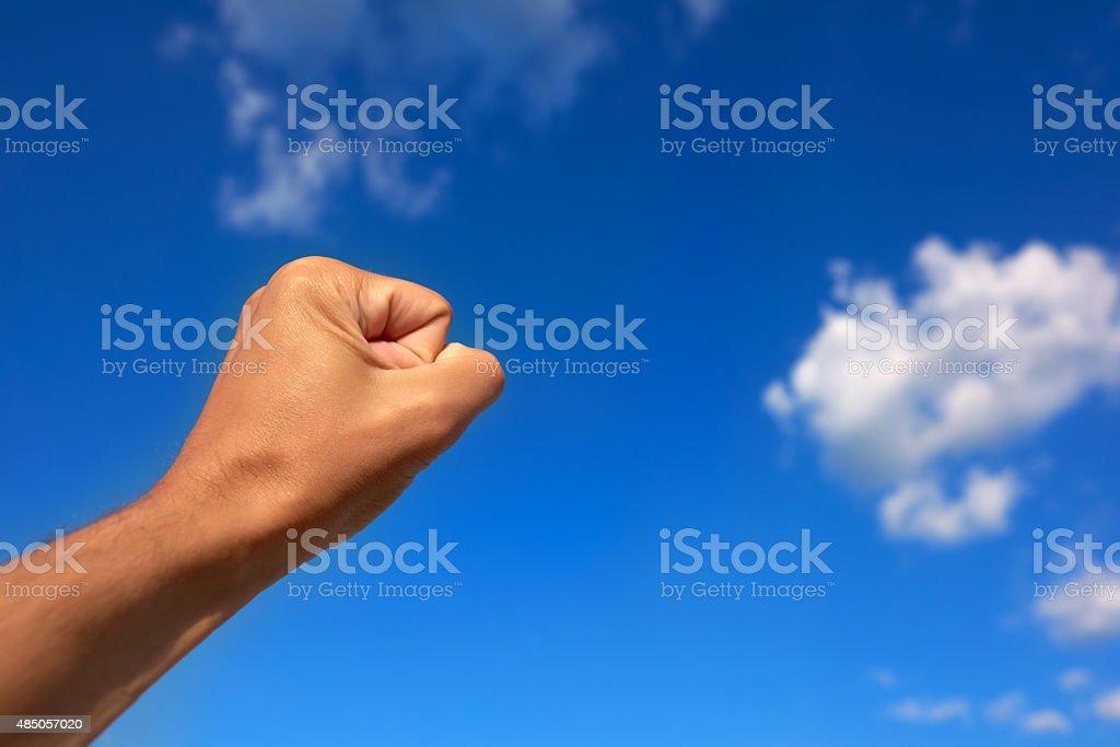 winner gesture stock photo