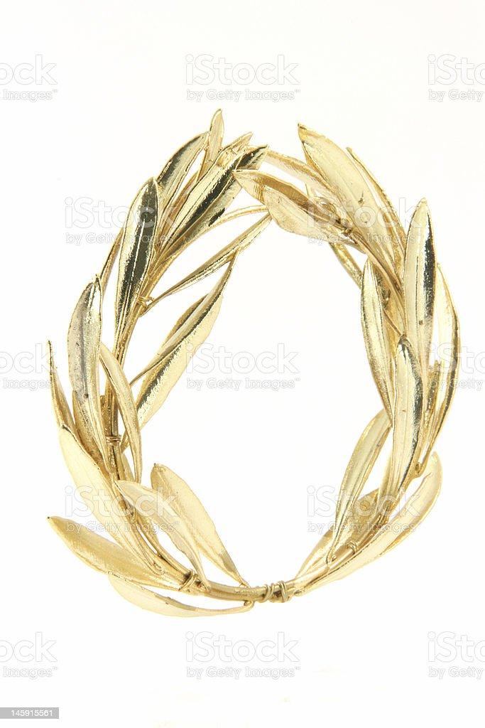winner gold wreath royalty-free stock photo
