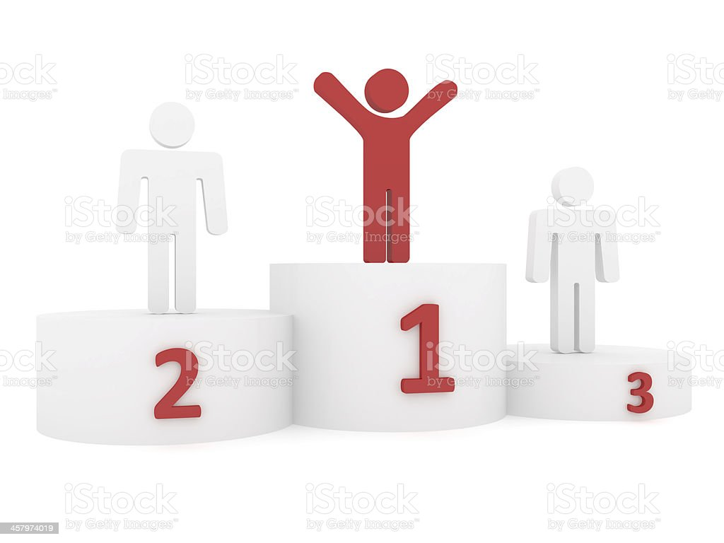 Winner on podium royalty-free stock photo