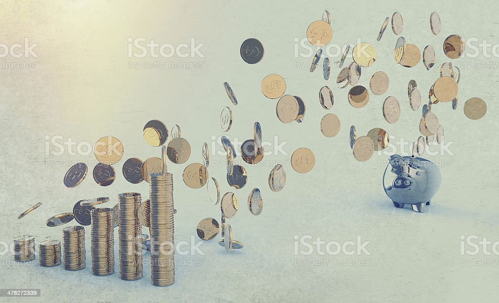 winner piggy bank royalty-free stock photo